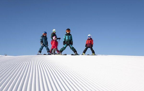 Børn på ski i Hemsedal